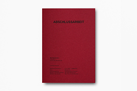 Abschlussarbeit Softcover Rot